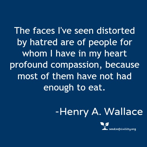 Graphic of a quote by Henry A. Wallace