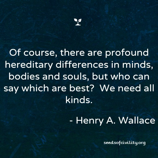 Henry Wallace quote on diversity