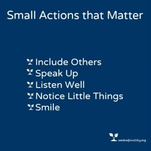 Graphic of Small Actions that Matter